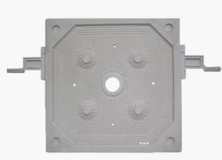 Chamber filter plate with central feed hole