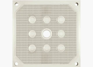 Chamber filter plate has eight hard-points and is ideal for harsh applications